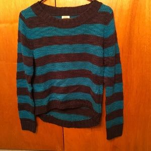Mossimo size medium blue striped sweater